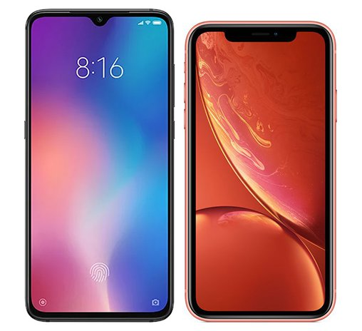 Smartphone Comparison: Xiaomi mi 9 vs Iphone xr