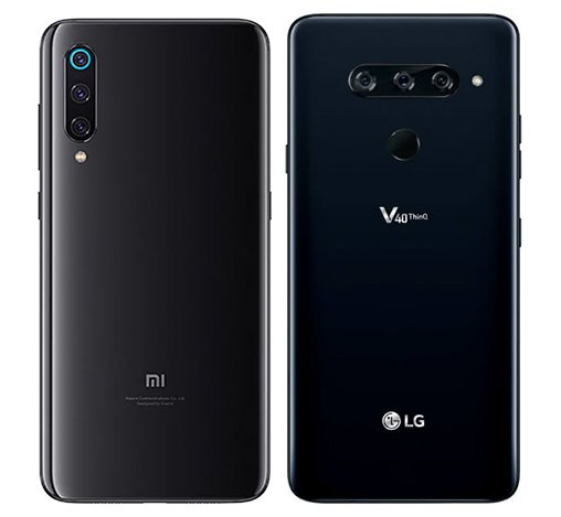 Mi 9 vs V40 Thinq. View of main cameras