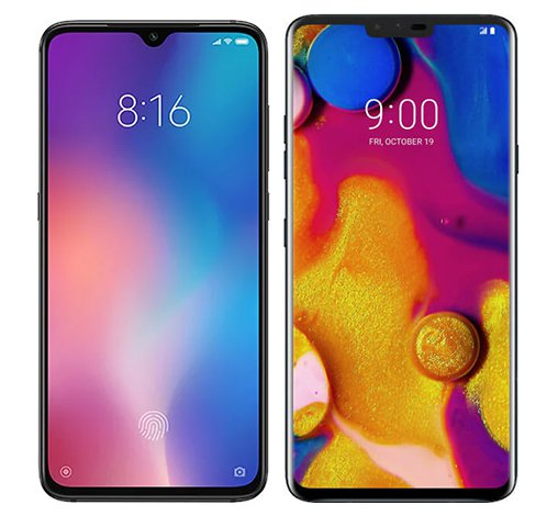 Smartphone Comparison: Xiaomi mi 9 vs Lg v40 thinq