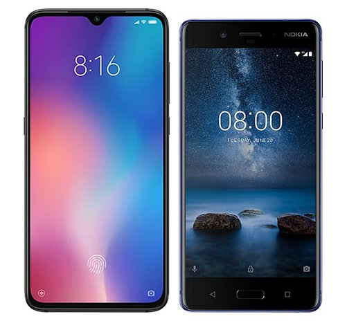 Smartphone Comparison: Xiaomi mi 9 vs Nokia 8