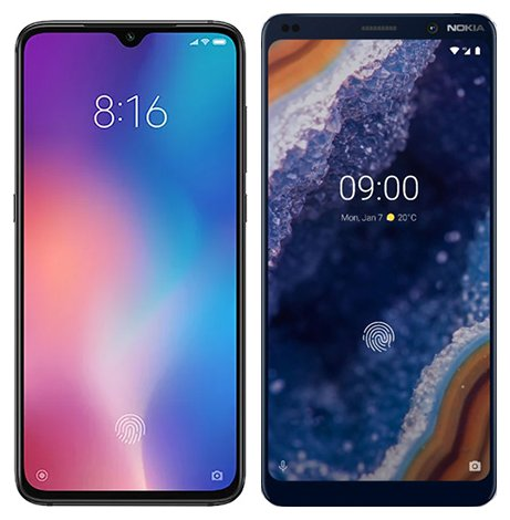 Smartphone Comparison: Xiaomi mi 9 vs Nokia 9