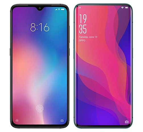 Smartphone Comparison: Xiaomi mi 9 vs Oppo find x