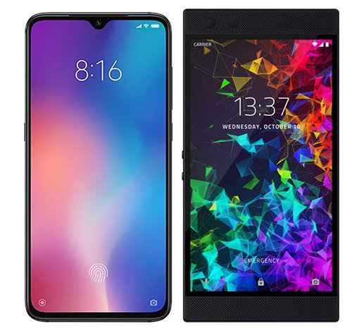 Smartphone Comparison: Xiaomi mi 9 vs Razer phone 2