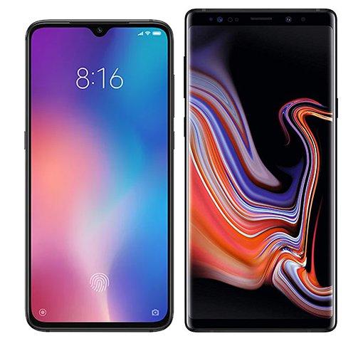 Smartphone Comparison: Xiaomi mi 9 vs Samsung galaxy note 9