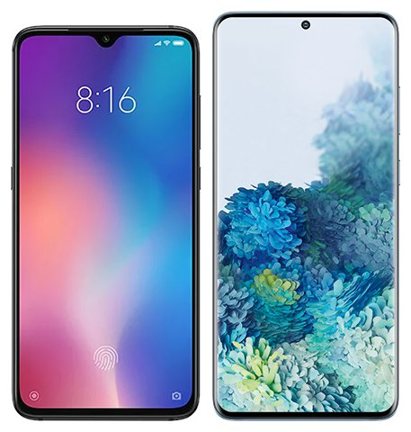 Smartphone Comparison: Xiaomi mi 9 vs Samsung galaxy s20 plus