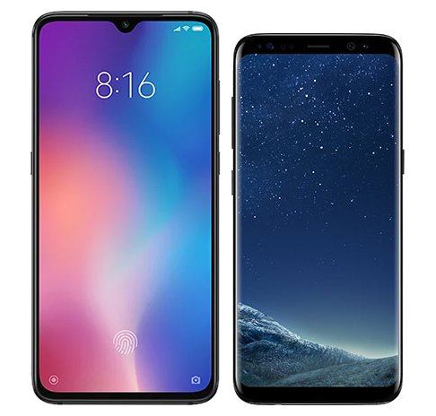 Smartphone Comparison: Xiaomi mi 9 vs Samsung galaxy s8