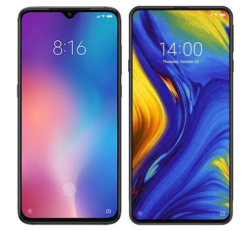 Smartphone Comparison: Xiaomi mi 9 vs Xiaomi mi mix 3
