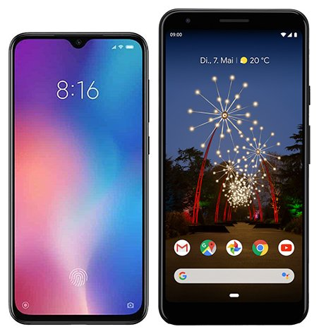 Smartphone Comparison: Xiaomi mi 9 se vs Google pixel 3a xl