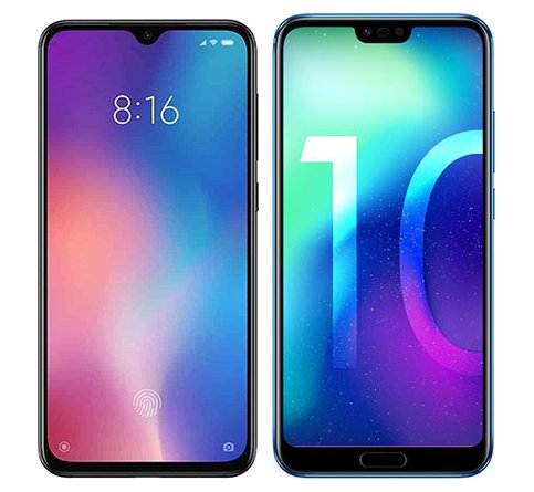 Smartphone Comparison: Xiaomi mi 9 se vs Honor 10