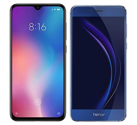 Smartphone Comparison: Xiaomi mi 9 se vs Honor 8