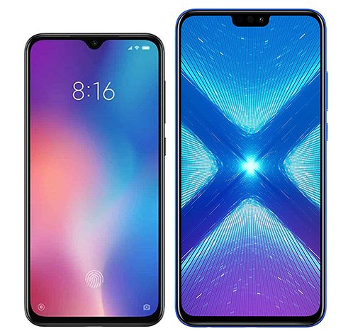 Smartphone Comparison: Xiaomi mi 9 se vs Honor 8x