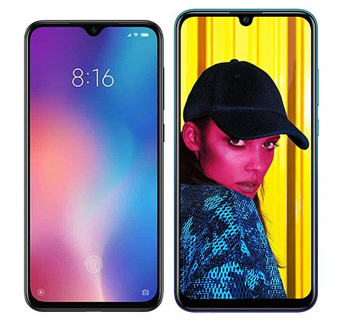 Smartphone Comparison: Xiaomi mi 9 se vs Huawei p smart 2019