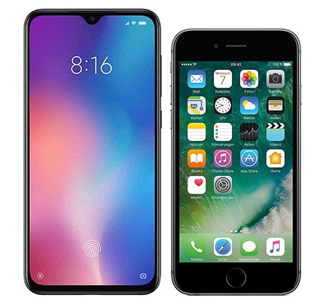 Smartphone Comparison: Xiaomi mi 9 se vs Iphone 6s