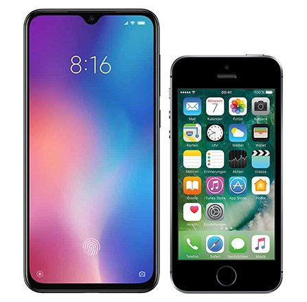 Smartphone Comparison: Xiaomi mi 9 se vs Iphone se
