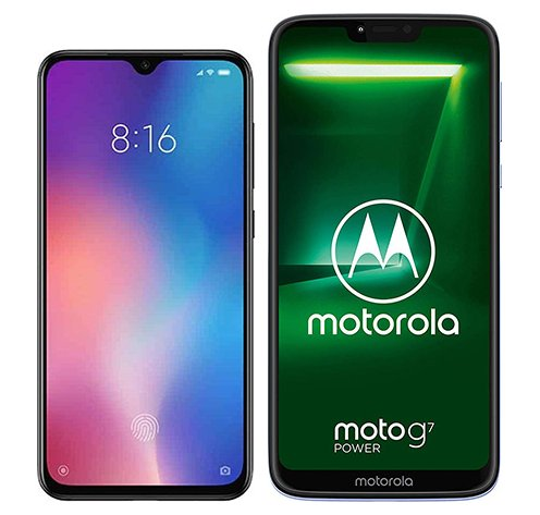 Smartphone Comparison: Xiaomi mi 9 se vs Motorola moto g7 power