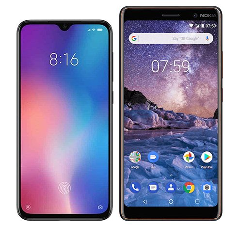 Smartphone Comparison: Xiaomi mi 9 se vs Nokia 7 plus