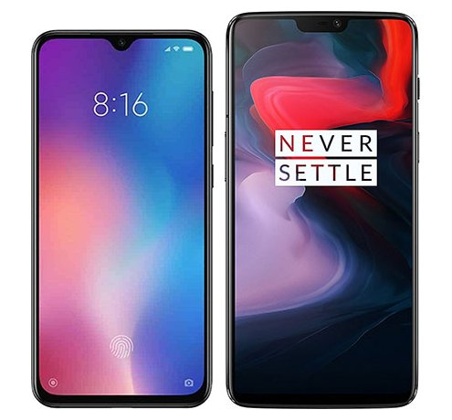 Smartphone Comparison: Xiaomi mi 9 se vs One plus 6