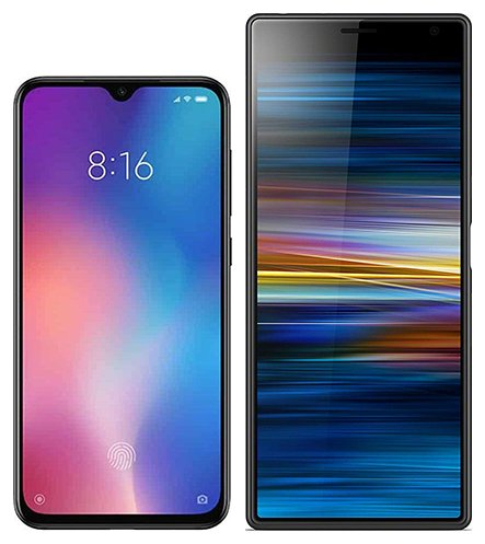 Smartphone Comparison: Xiaomi mi 9 se vs Sony xperia 10 plus