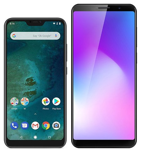 Smartphone Comparison: Xiaomi mi a2 lite vs Cubot power