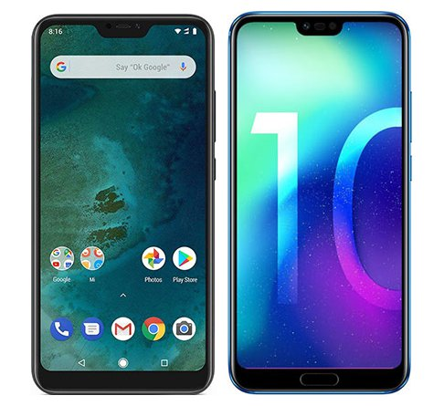 Smartphone Comparison: Xiaomi mi a2 lite vs Honor 10