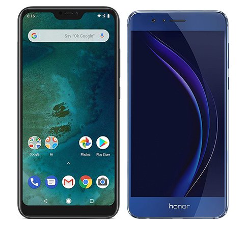 Smartphone Comparison: Xiaomi mi a2 lite vs Honor 8