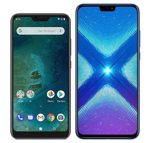 Smartphone Comparison: Xiaomi mi a2 lite vs Honor 8x