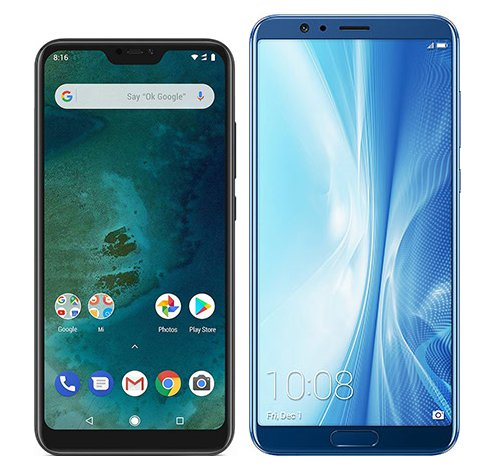 Smartphone Comparison: Xiaomi mi a2 lite vs Honor view 10