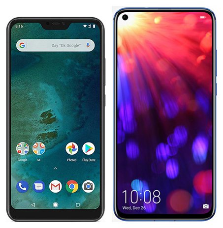 Smartphone Comparison: Xiaomi mi a2 lite vs Honor view 20
