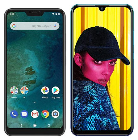 Smartphone Comparison: Xiaomi mi a2 lite vs Huawei p smart 2019