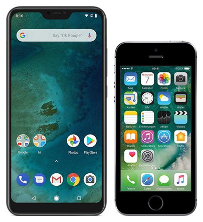 Smartphone Comparison: Xiaomi mi a2 lite vs Iphone se