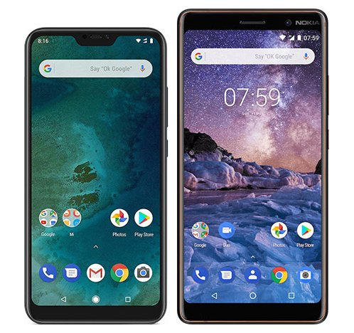 Smartphone Comparison: Xiaomi mi a2 lite vs Nokia 7 plus