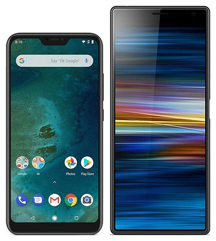 Smartphone Comparison: Xiaomi mi a2 lite vs Sony xperia 10 plus