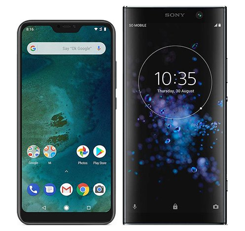 Smartphone Comparison: Xiaomi mi a2 lite vs Sony xperia xa2 plus