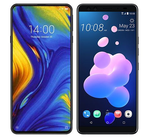 Smartphone Comparison: Xiaomi mi mix 3 vs Htc u12 plus
