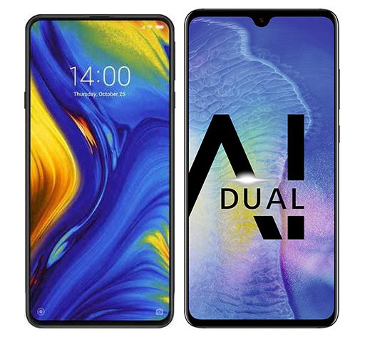 Smartphone Comparison: Xiaomi mi mix 3 vs Huawei mate 20