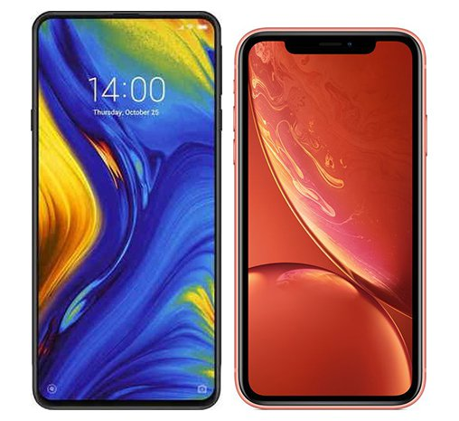 Smartphone Comparison: Xiaomi mi mix 3 vs Iphone xr