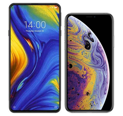 Smartphone Comparison: Xiaomi mi mix 3 vs Iphone xs
