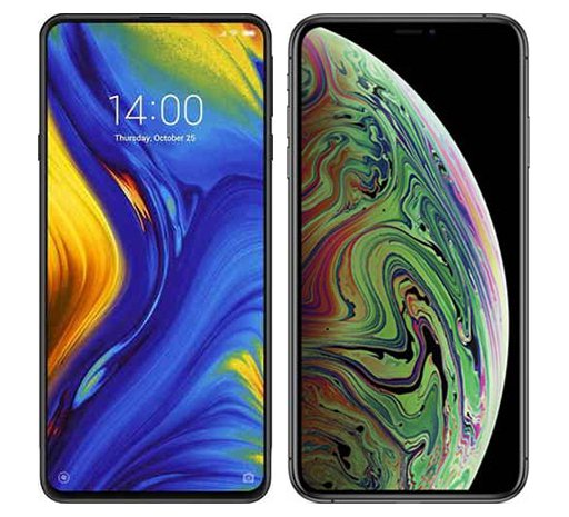 Smartphone Comparison: Xiaomi mi mix 3 vs Iphone xs max