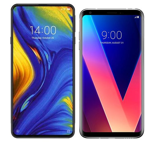 Smartphone Comparison: Xiaomi mi mix 3 vs Lg v30