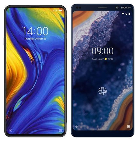 Smartphone Comparison: Xiaomi mi mix 3 vs Nokia 9