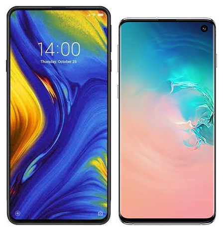Smartphone Comparison: Xiaomi mi mix 3 vs Samsung galaxy s10