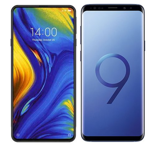 Smartphone Comparison: Xiaomi mi mix 3 vs Samsung galaxy s9 plus