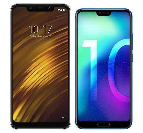 Smartphone Comparison: Xiaomi pocophone f1 vs Honor 10