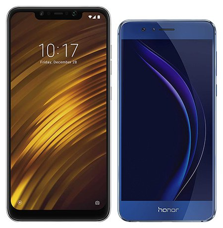Smartphone Comparison: Xiaomi pocophone f1 vs Honor 8