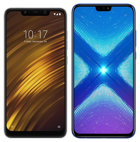 Smartphone Comparison: Xiaomi pocophone f1 vs Honor 8x