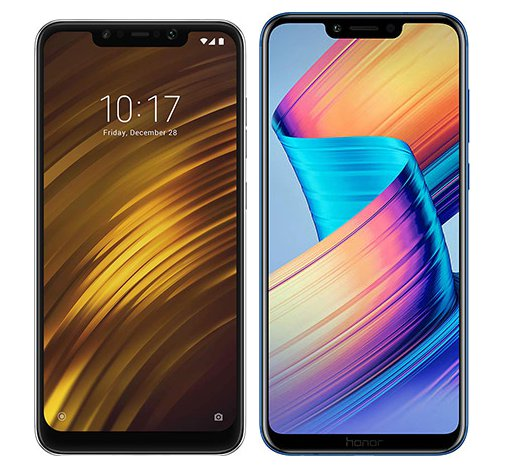 Smartphone Comparison: Xiaomi pocophone f1 vs Honor play