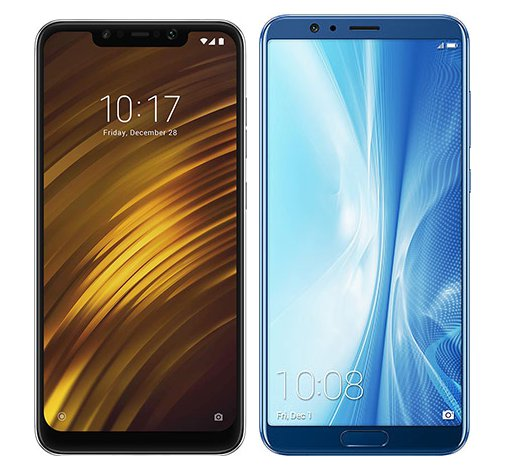Smartphone Comparison: Xiaomi pocophone f1 vs Honor view 10