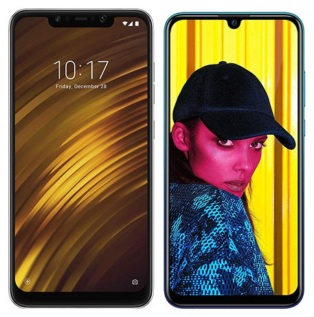 Smartphone Comparison: Xiaomi pocophone f1 vs Huawei p smart 2019