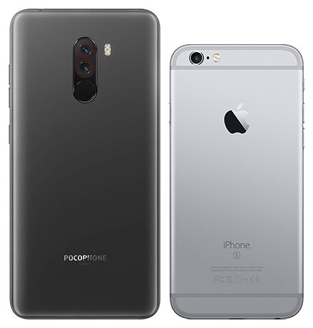 Pocophone F1 vs iPhone 6s. View of main cameras