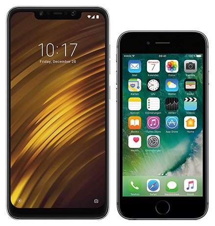 Smartphone Comparison: Xiaomi pocophone f1 vs Iphone 6s